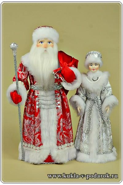 Куклы Дед Мороз и Снегурочка