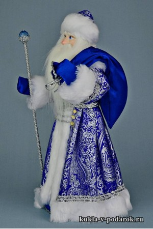 Фото Дед Мороз с мешком кукла хенд мейд