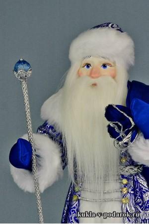 Фото русский Дед Мороз с мешком и жезлом