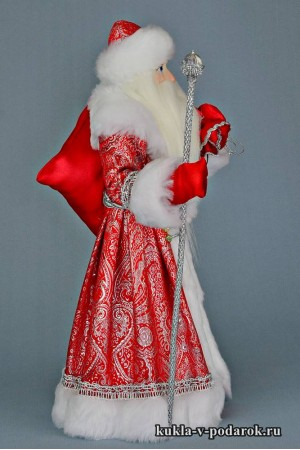 Фото Дед Мороз с мешком кукла ручной работы