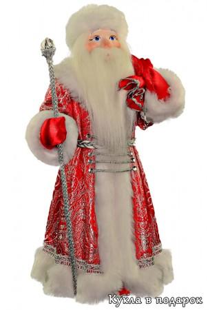 Дед Мороз с мешком кукла в подарок