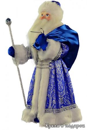 Дед Мороз с мешком кукла с фарфоровой головой