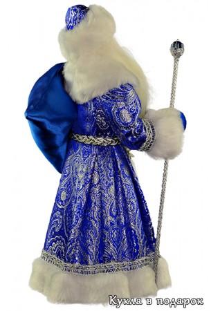 Дед Мороз с мешком подарков под новогоднюю елку