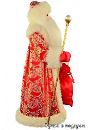 Авторская работа кукла Дед Мороз с посохом