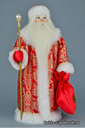 Фото Дед Мороз с посохом в красной шубе