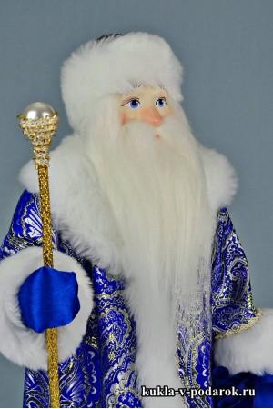 Фото Дед Мороз с посохом новогодняя кукла хенд мейд