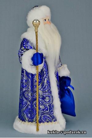 Фото Дед Мороз с посохом подарок в русском стиле