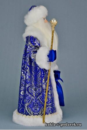 Фото Дед Мороз с посохом авторская кукла ручной работы