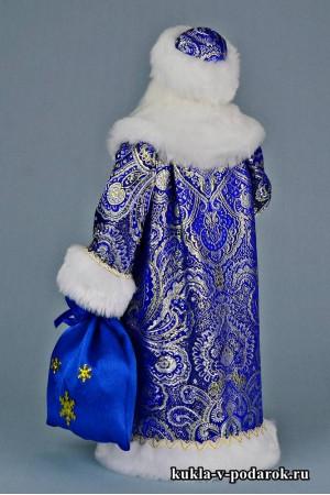 Фото Дед Мороз с посохом красивая кукла hand made