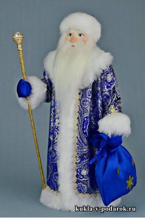 Фото Дед Мороз с посохом новогодний красивый подарок под елку