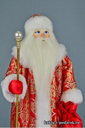Фото Дед Мороз с посохом кукла в подарок