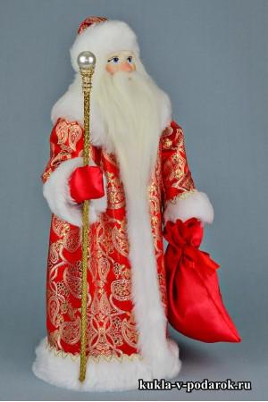 Фото Дед Мороз с посохом и мешком подарков