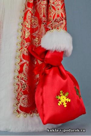Фото Дед Мороз с посохом кукла сувенир из Москвы