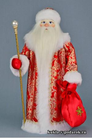 Фото Дед Мороз с посохом красивый подарок на Новый год