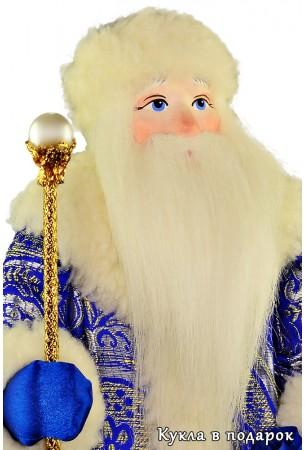 Новогодний подарок кукла Дед Мороз с посохом