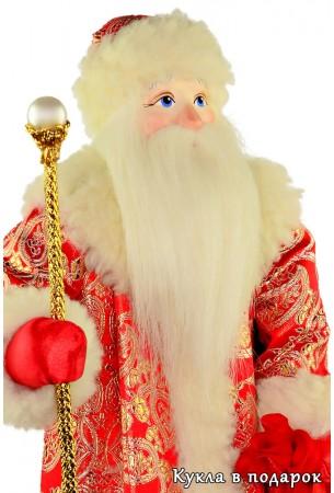 Кукла ручной работы Дед Мороз с посохом