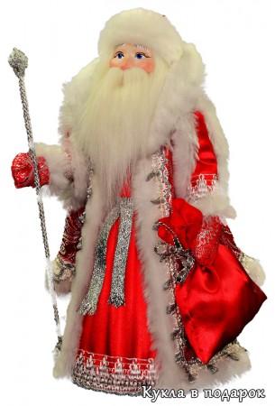 Дед Мороз под елку московская новогодняя кукла сувенир