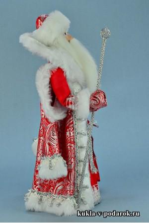 Фото Дед Мороз под елку кукла в красной одежде