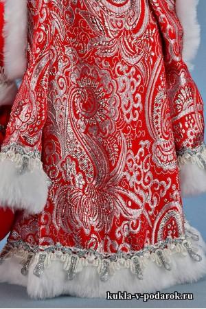 Фото Дед Мороз под елку образец парчи и отделки