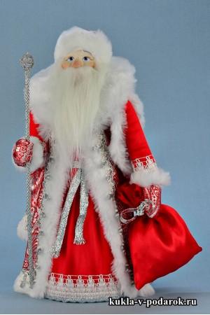 Фото Дед Мороз под елку московская новогодняя кукла сувенир