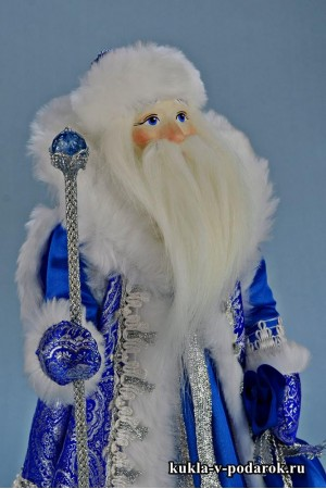 Фото Дед Мороз под елку в синей шубе