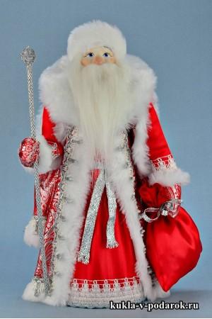 Фото Дед Мороз под елку в красной шубе