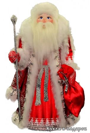 Дед Мороз под елку в красной шубе