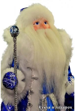 Дед Мороз под елку в синей шубе