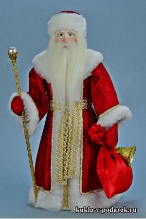 Фото Дед Мороз красный нос подарок в русском стиле