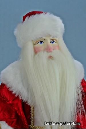Фото Дед Мороз красный нос кукла ручной работы