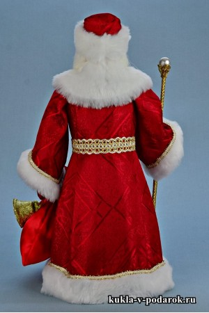 Фото Дед Мороз красный нос кукла сувенир из Москвы