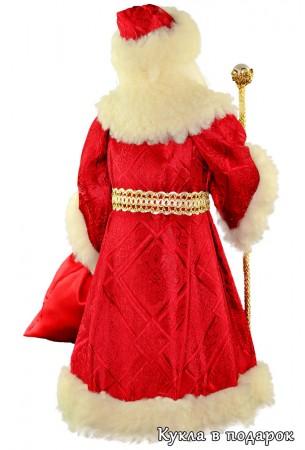 Дед Мороз красный нос кукла готовая работа