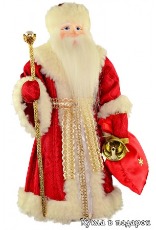 Дед Мороз красный нос кукла в подарок