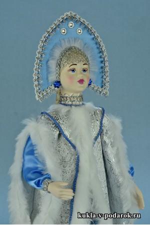 фото красивая Снегурочка кукла ручной работы