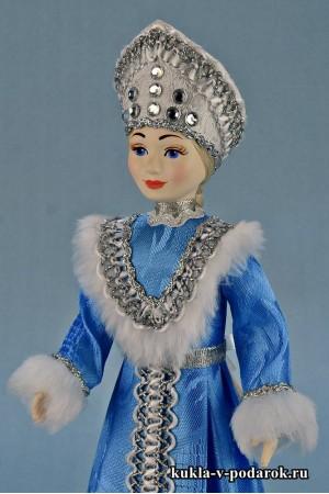 фото рукодельная Снегурочка в голубом
