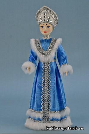 фото авторская кукла Снегурочка под елку