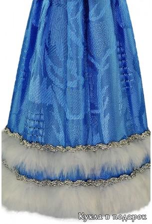 Узор ткани наряда куклы Снегурочка