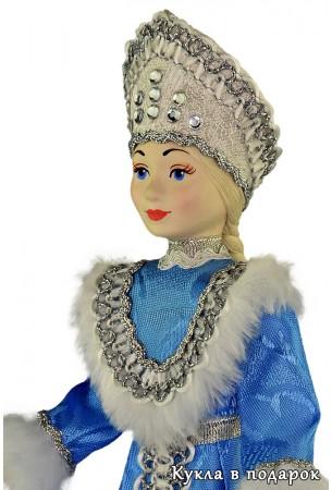 Снегурочка под елку оригинальная кукла в голубом