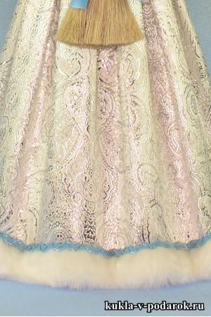 фарфоровая Снегурочка платье с узорами
