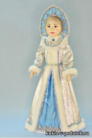 фарфоровая Снегурочка кукла хенд мейд