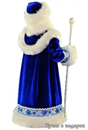 дед мороз из ссср в синей шубе одежде