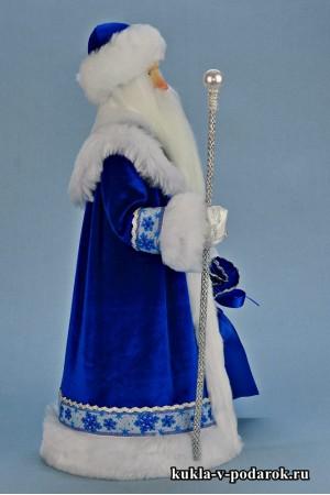 Фото Дед Мороз из СССР в синей шубе и одежде