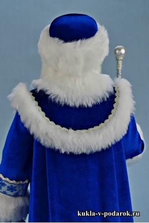 Фото Дед Мороз из СССР в круглой шапке с мехом