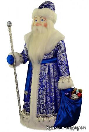 Большая красивая кукла Дед Мороз с бородой