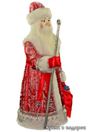 Большая кукла красный Дед Мороз