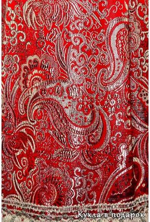 Одежда большого Деда Мороза из красной ткани