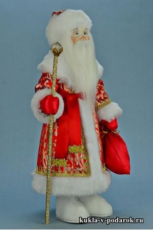 Фото Дед Мороз в подарок рукодельная кукла