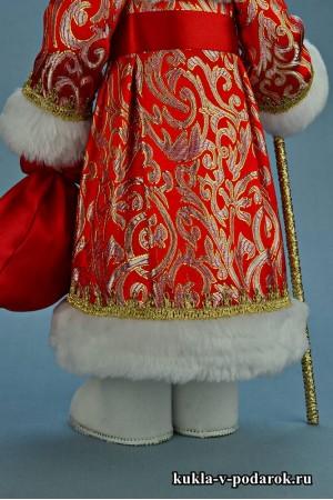 Фото Дед Мороз кукла в белых валенках