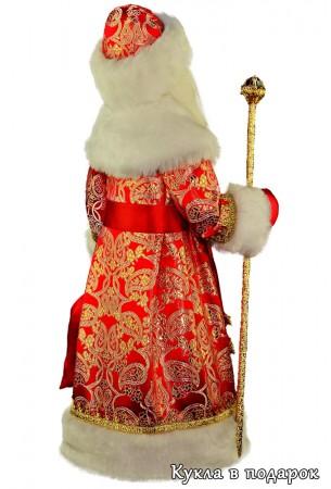 Кукла Дед Мороз в красивой шубе