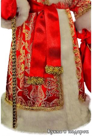Узоры на красной шубе Деда Мороза в подарок